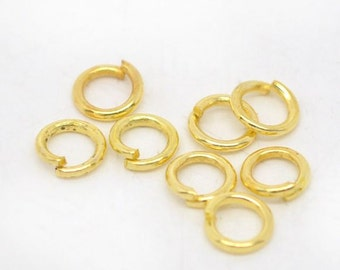 200 - 4mm Gold Plated Jump Rings