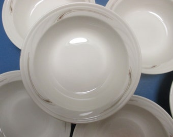 Syracuse China Restaurant Ware - Turina Shape - Compton Pattern - Set of 4 Cereal Soup Bowls