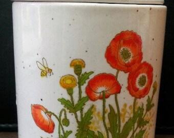Ceramic Jar with lid and floral design