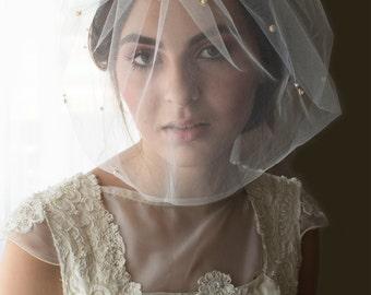 blusher veil, birdcage veil, beaded veil, tulle birdcage veil, tulle veil, mini veil, tulle mini veil, wedding veil, full birdcage veil,