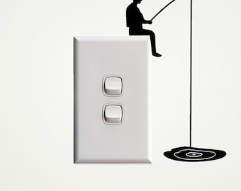 Fisherman Wall Decal for Light Switches