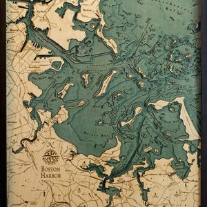Boston area map Etsy