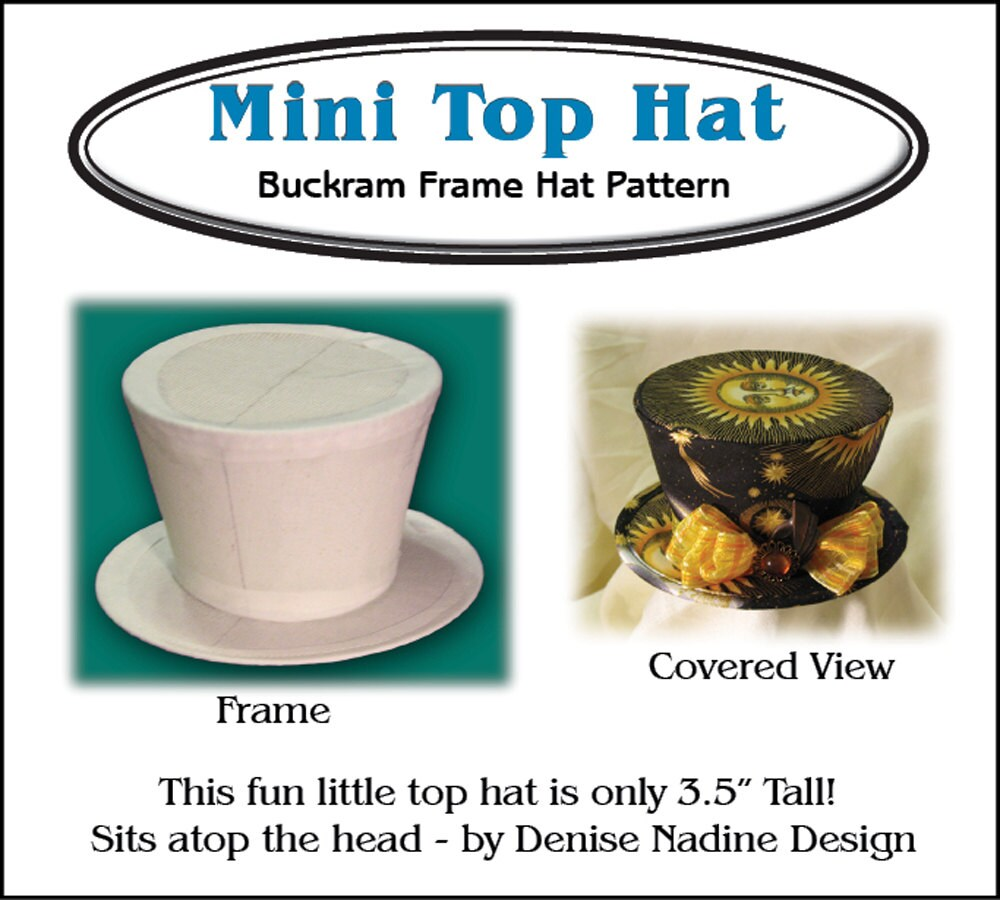 DN016 - Mini Top Hat Buckram Frame Hat Pattern - Victorian Era or ...