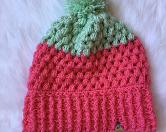 Puff beanie in pink and mint- allcolors available!