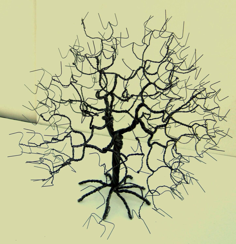 Wire Tree Steel Art Sculpture Handmade