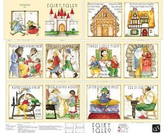 Quilting Treasures. Fairy Tales Fabric Book Panel - Full Yard Panel