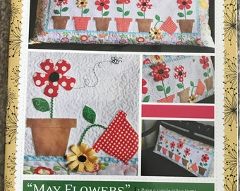 May Flowers Bench Pillow Pattern - Kimberbell - Fat Eighth Friendly (2C)