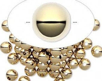 14kt Gold filled 5mm Round beads (50)