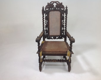 Antique carved Throne chair