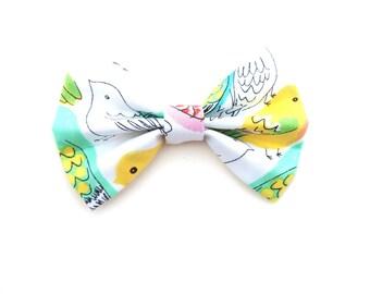 Hair Bow / Bow Tie / Bird Bow Hair Clip / Bird Bow Tie / Birdie Bow / Bird Hair Bow / Birdie Bow Tie / Bird Hair Clip / Tropical Bow