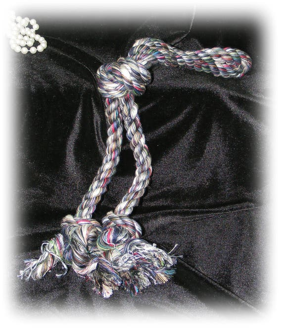 Large Rope DOG TOY . . . Knotted Tug Rope . . . DT114