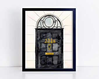 Sherlock Door Art Print || sherlock holmes 221b baker street nerdy art print  sc 1 st  Etsy & Sherlock Wallet Sherlock Holmes Wallet Literature Wallet 221b