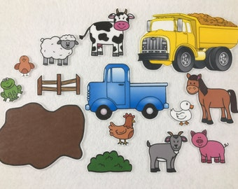 Little Blue Truck - Felt Board Story - Felt Stories - Speech Therapy - Gifts for Kids - Birthday Party - Toddler Activity - Flannel Board