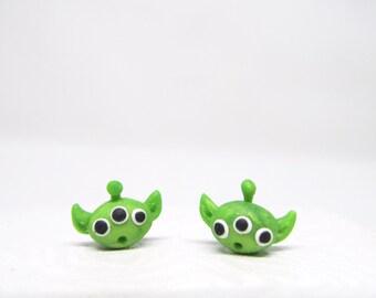Toy Story green alien disney stud earrings disney pixar toy story disneybound jewelry disney jewelry studs