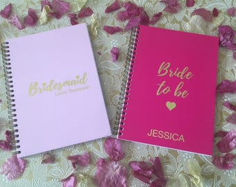 Personalised Foiled Brides & Bridesmaid Notebooks