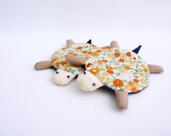 Fabric Coaster, Turtle Coasters, Coaster, Drink Coaster, Cup Coaster, Mug Coaster, Animal Coaster, Flower Coaster - Turtle