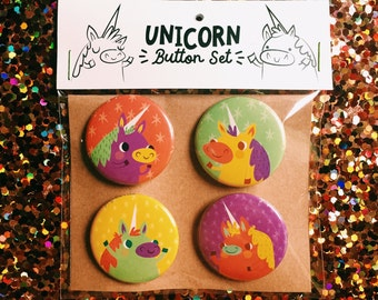 Unicorn Party Magnets / Pins