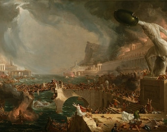 Thomas Cole - Course of Empire - Destruction - Art Print - 11x17