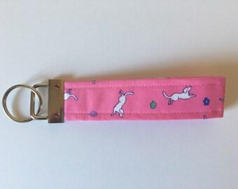 Pink Puppies Key Fob