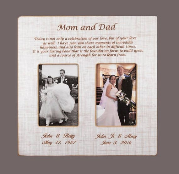 In laws wedding gift parents gift bride gift to parents groom in laws wedding gift parents gift bride gift to parents groom wedding gift to mom and dad wedding personalized picture frame 12x12overall from junglespirit Choice Image