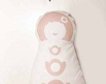 Doudou Midinette de La Modette, poupée de chiffon - beige nude