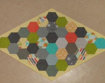 Modern Reversible Table Topper Michael Miller Fabrics Quiltsy Handmade