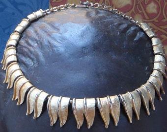 Rare vintage Charel goldtone necklace