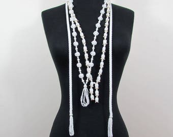 Lot of 3 Flapper Style Necklaces with tassels - 50s-60s