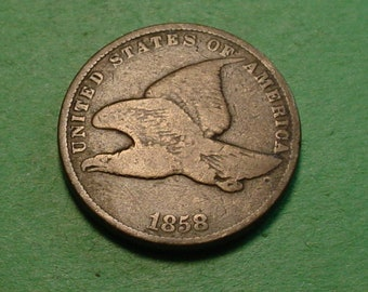 1858 Flying Eagle Cent S.L.  Fine  <> The Coin you see is the coin you get <> Free S.H. to U.S.<> Insurance Included in SH <>ET001