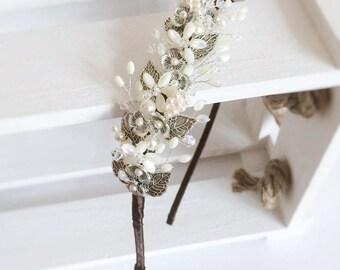 Braut Kopfschmuck, Bräute floralen Kopfschmuck, passende Haarnadeln, Art, Braut Kopfschmuck, Hochzeit Kopfschmuck