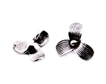 Thai Karen Hill Tribe Silver,Flower Shaped Karen Hill Tribe Handmade Charms,Charms,Karen Silver- KSC0168