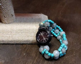 Turquoise and Labradorite Watch