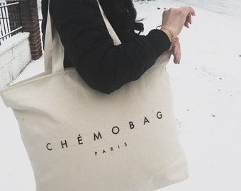 Canvas CHEMOBAG TOTE, Cancer Gifts, Totebag