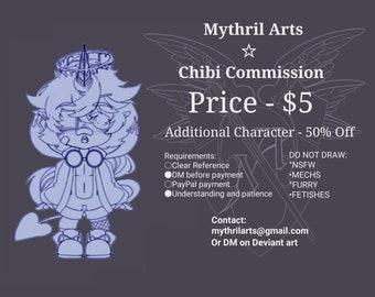 Cheap Chibi Commission Line Art