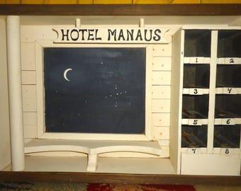Original Dr John H Galey Mixed Media Framed Shadowbox Art Work Hotel Manaus