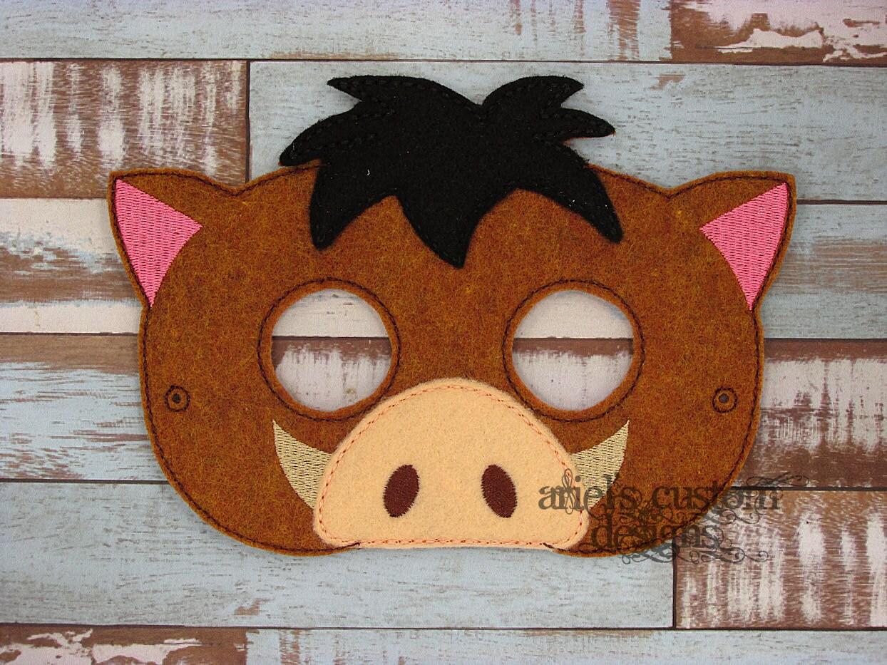 Pumbaa-Maske Warzenschwein Maske König der Löwen Lion