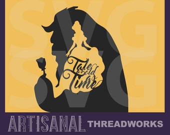Beauty and the Beast Minimalist Disney SVG files for cutting