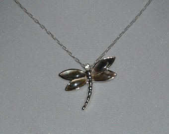 Dragonfly Pendant  with  Sterling Silver Chain