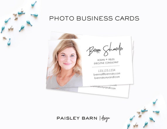 BUSINESS CARDS Photo Front & Back Color | skincare, business, marketing, printed, personalized, direct sales, Rodan, Fields, AMP