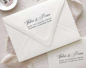 Wedding Address Stamp, Custom Rubber Stamp, Return Address, Wood Handle, Personalized Gift, Engagement Gift