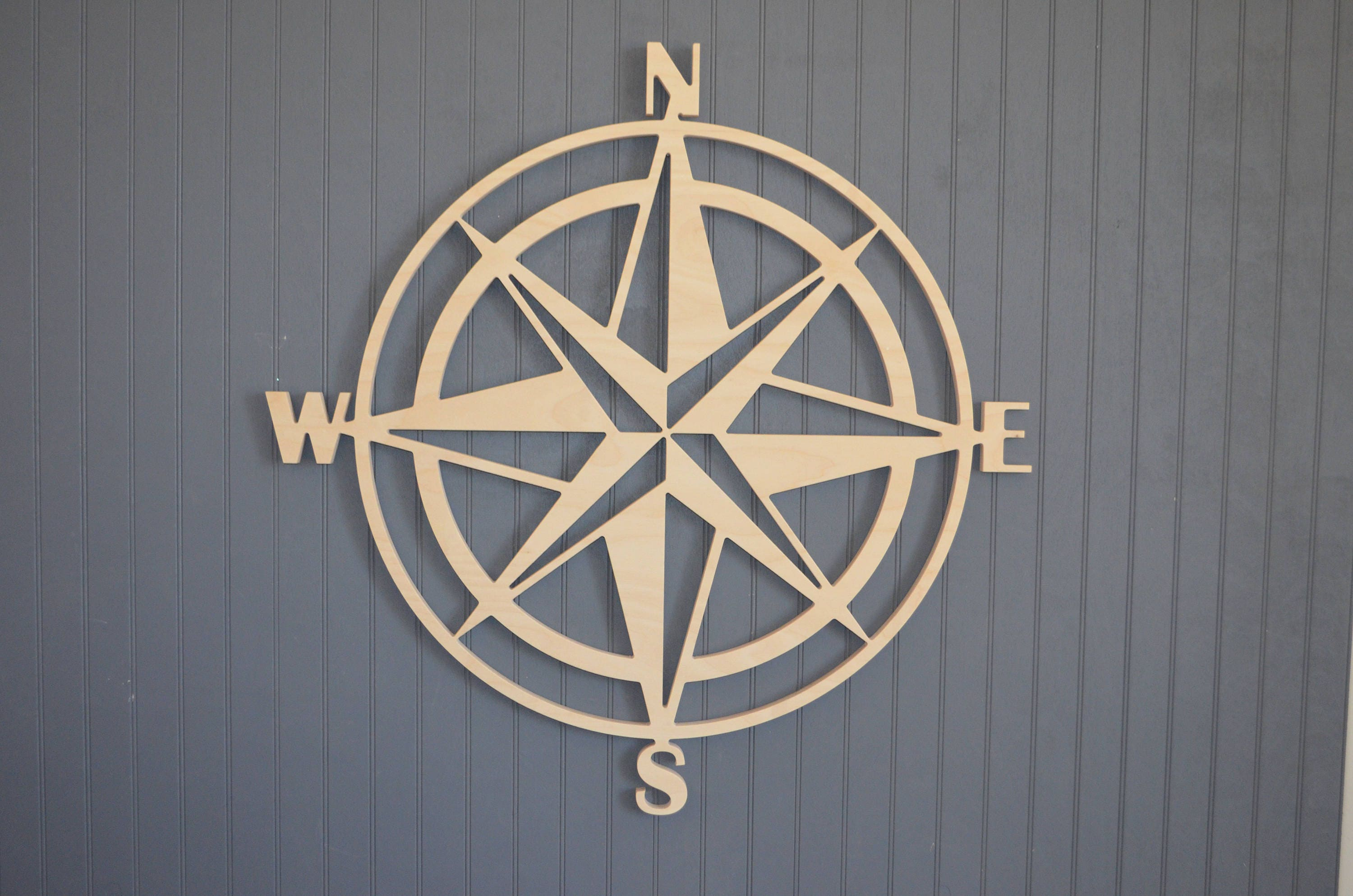 wood compass cut out wooden compass large compass wall