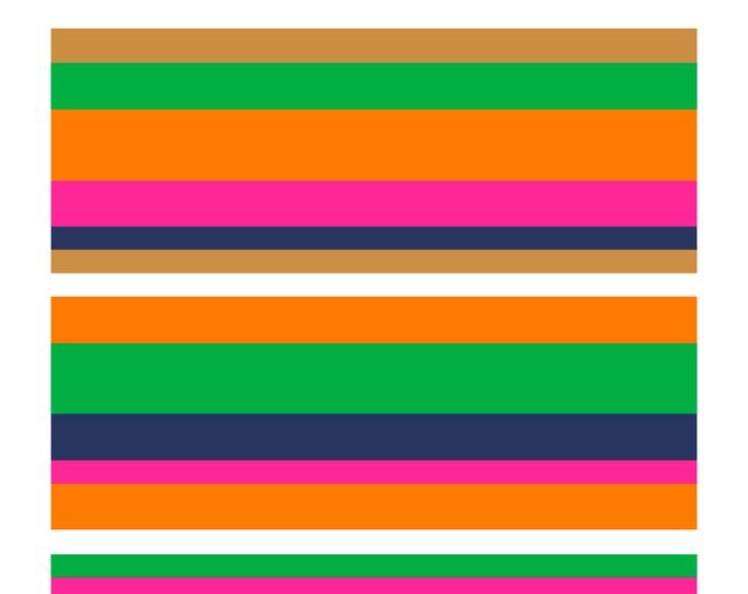 Stripes No. 1, Original Art Print, Colorful Patterned Prints