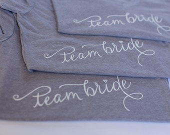 Team Bride, Bridal Party,  T-shirt, V-Neck, Bridesmaid Gift, Bachelorette Party, Photoshoot, Gifts For Bridesmaid, Bridal Shower, MOB