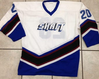 """Vintage Shaft Hockey Jersey """"Pebler"""" On Back - Size XL - Made in Canada"""