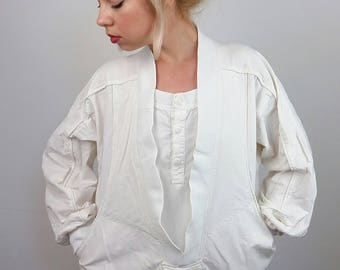 Vintage 80's Retro Festival Pullover Jacket / Windbreaker/ size S-M