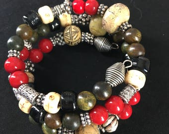 Memory Wire Bracelet Asian Accents