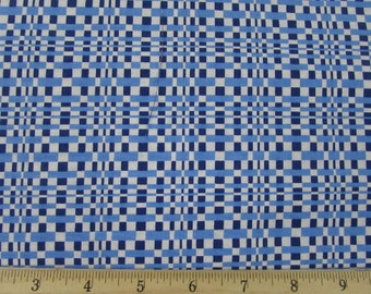 Salute to Summer Blue Geo Fabric From Quilting Treasures