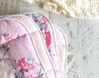 Couture Cot Quilt in Blowsy Blooms Pink