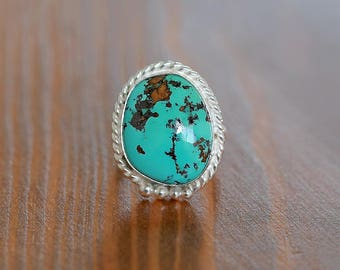 Royston Turquoise Ring - US7, Silver ring
