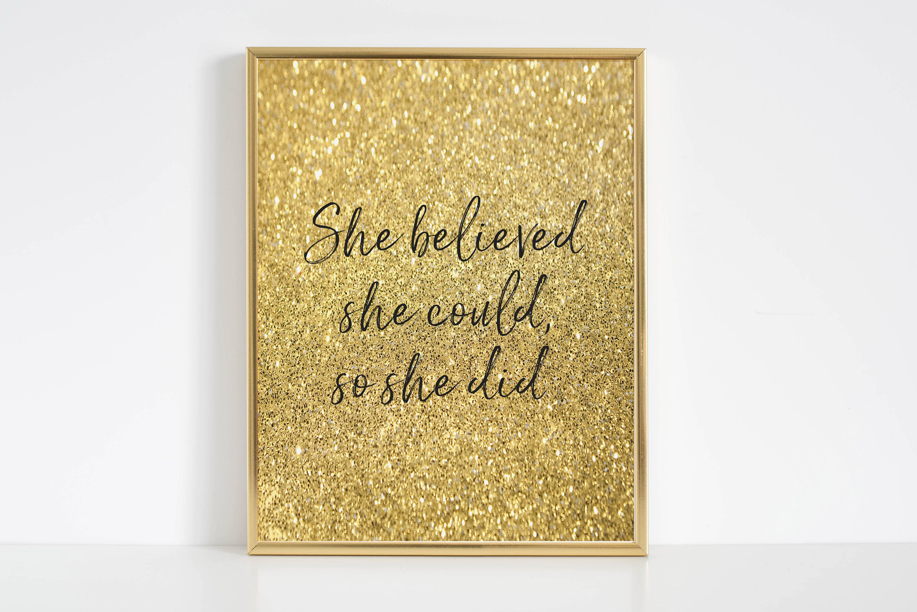 She Believed She Could So She DidGirl Nursery DecorWall Art